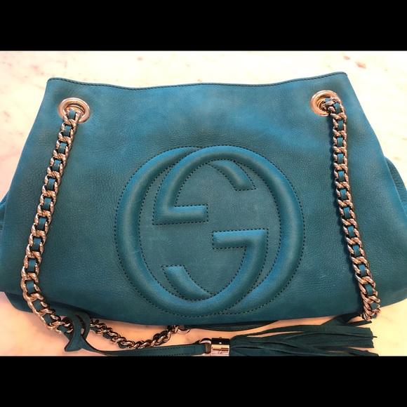 Gucci Handbags - Gucci soho chain strap shoulder bag nubuck medium